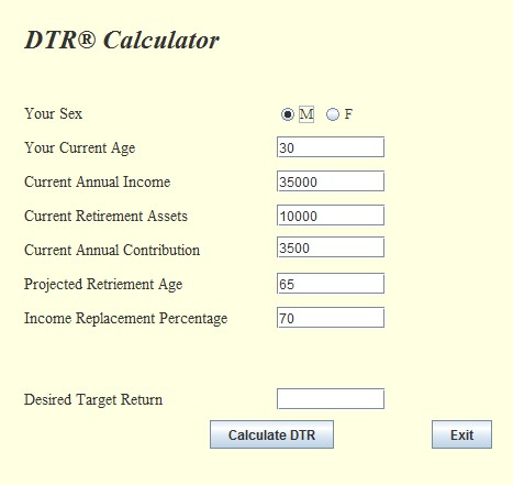 dtr calculator download post modern portfolio theory pmpt